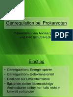 Genregulation bei Prokaryoten-Präsentation von Annika und Alec.ppt