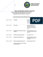 Commercial Space Transportation Advisory Committee (COMSTAC) Final Agenda
