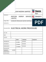 Electrical Work Procedure