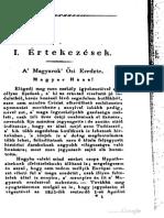 Derecskei Fodor Gábor - A Magyarok Ősi Eredete 1825.