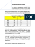 Evolución de La Inversión Minera Junio2014 - Articulo