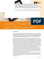Developing Compliant Search Engine Marketing Campaigns
