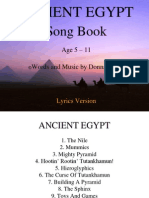 Ancient Egypt With Lyrics