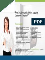 Cerinte Recrutare Asistent Logistica
