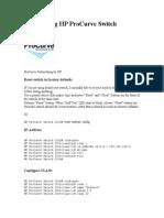 Configuring HP ProCurve Switch
