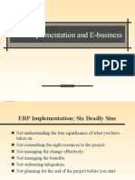 ERP Implementation and E-Business