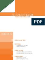 Alexander Leck Product Design Portfolio 2014