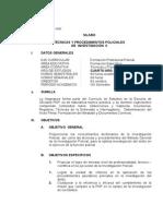 Tecnicas y Procedimientos Policiales de Investigacion II