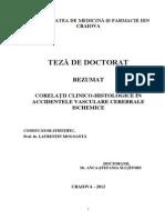 Corelatii Clinico-histologice in Accidentele Vasculare Cerebrale Ischemice (1)