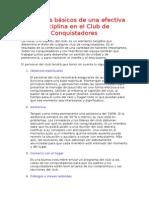 6. Principios Básicos de Una Efectiva Disciplina en El Club de Conquistadores(2)