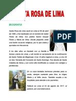Biografia - SANTA ROSA DE LIMA (para Primaria) + Milagros