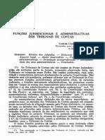 COSTA, Carlos Casimiro. Funções Jurisdicionais e Administrativas Dos Tribunais de Contas