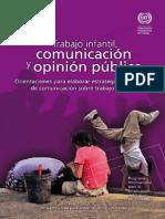 Trabajo Infantil Comunicaciony Opinion Publica