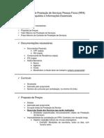 Roteiro Para Contratação de Prestação de Serviços PF