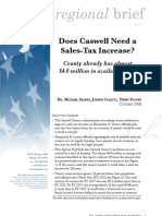 Does Caswell need a sales tax increase?