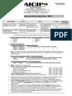 035rev24 - Exam Dates - AICIP 2014