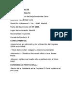 09-10DFG03 -CURRICULUM VITAE Francisco de Borja