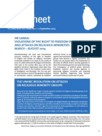 SLB Fact Sheet 2 Sep 2014 Re Attacks on Religious Minorities