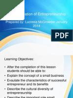 Small Business Management - Unit 1 -The Foundation of Entrepreneurship
