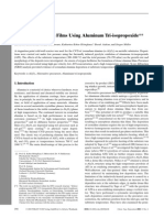 CVD of Al2O3 Thin Films Using Aluminum Tri-Isopropoxide