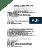 Cuestionario de Sistemas Operativo i