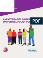 La Participación Comunitaria Motor Del Poder Popular