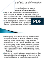 Mechanisms of Plastic Deformation in Metals