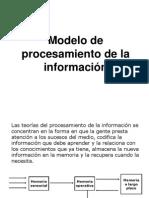 Modelo de Procesamiento de La Información