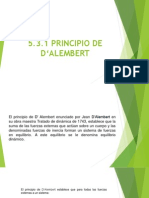 5.3.2 Principio D_ Alembert