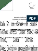 Portafolio Cauca Sin Fronteras