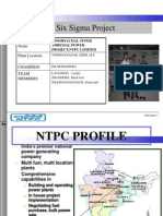 NTPC Vindhyachal-six Sigma Project