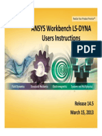 ANSYS Workbench LS-DYNA Users Instructions