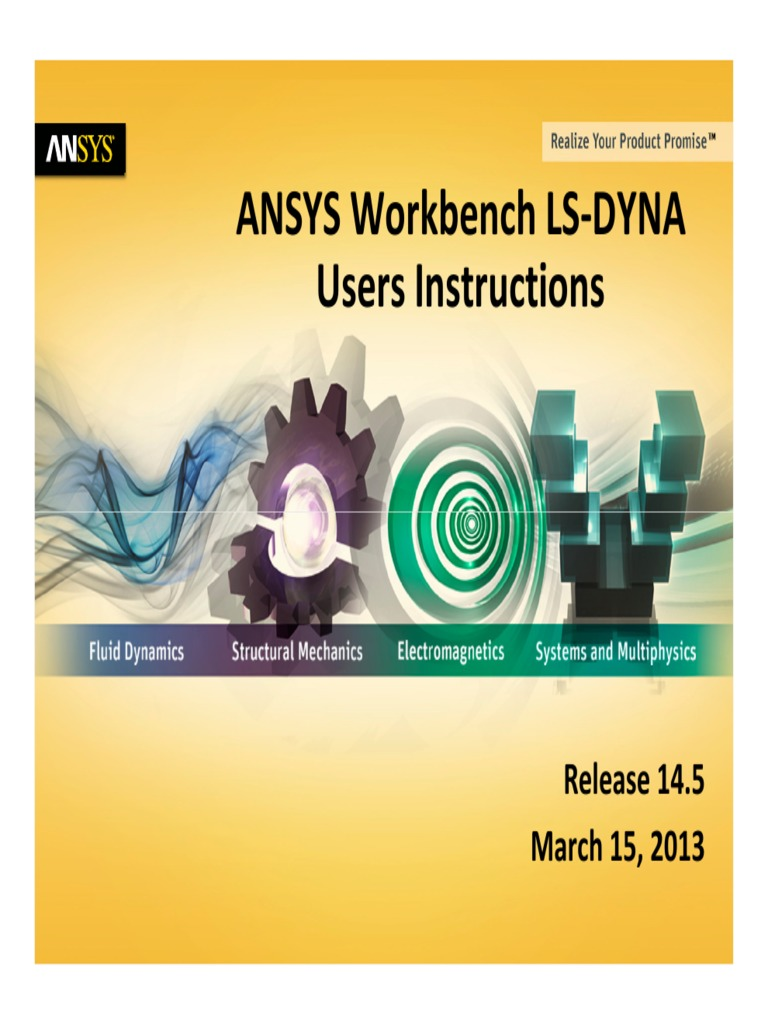 ANSYS Workbench LS-DYNA Users Instructions | Graphical User