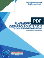 Plan Municipal de Desarrollo de Matamoros 2013 - 2016 - Gobiernio de Matamoros.