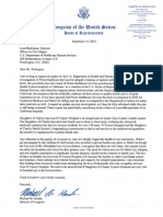Letter to HHS Asking for Update to Daughters of Charity Sale