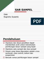 Besar Sampel