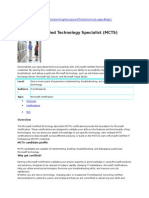 Microsoft Certified Technology Specialist Mctsdoc4385