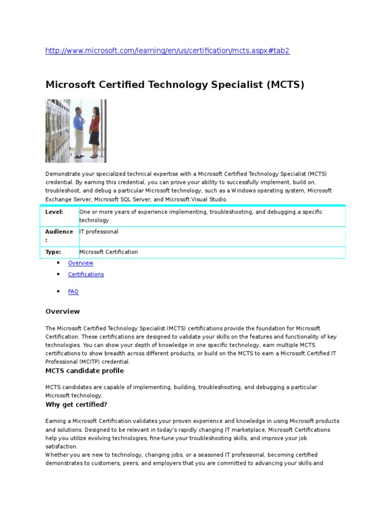 Microsoft Certified Technology Specialist Mctsdoc4385 Digital