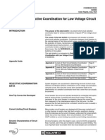 Short Circuit Selective Coordination for Low Voltage (1)