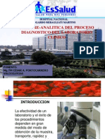 Fase Pre-Analitica Del Proceso Diagnostico Del Laboratorio Clinico