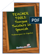 7 Tongue Twisters in Spanish Printables