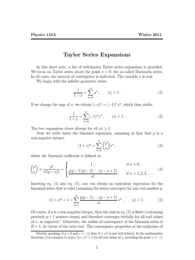 Taylor Series Complex Analysis Calculus