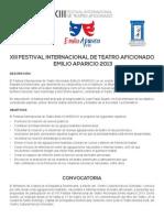 Convocatoria&BasesFestivalEmilioAparicio2013