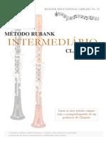 CLARINETE - MÉTODO - Rubank - Nível Intermediário