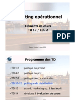 Eléments de cours Marketing Op. ESC2-TD10