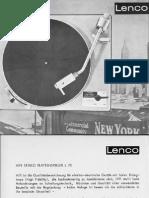 Lenco L70 Brochure De