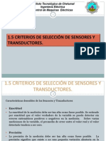 1.5 Criterios de Selección de Sensores y Transductores