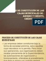 Proceso de Constitución de Las Cajas