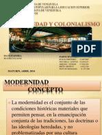 Presentacion Modernidad y Colonialismo
