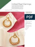 Dowel Knit Pearl Earrings